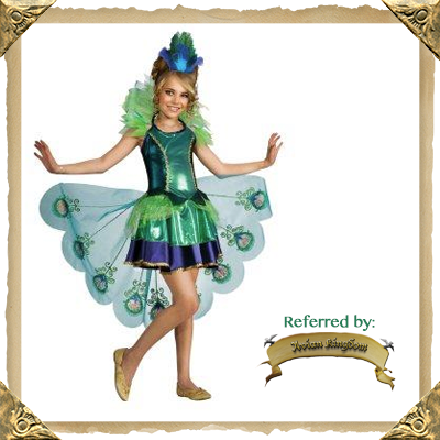 pretty little peacock costume for girls range of sizes 46 8