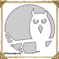 Basic Owl Pumpkin Carving Template