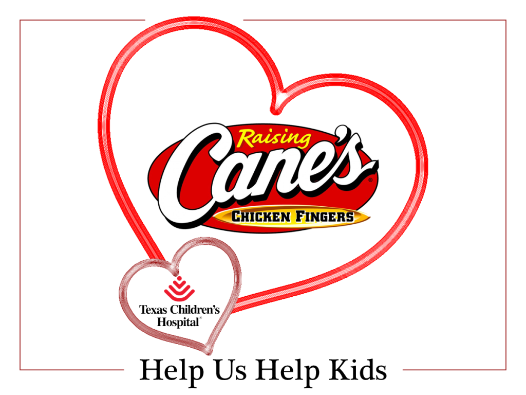 Raising Canes Helps Kids for Valentines